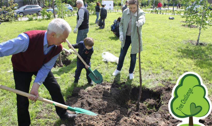 Tree Challenge поповнив деревами парк Моряків у Києві